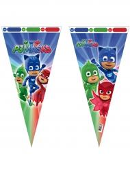 6 Grands sacs en forme de cône Pyjamasques™ 30 x 60 cm