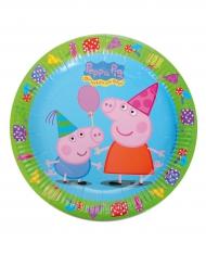 8 Assiettes en carton Peppa Pig™ 23 cm