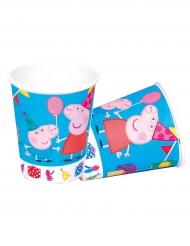 8 Gobelets en carton Peppa Pig™ 220 ml