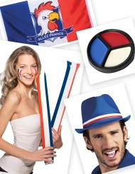 Kit supporter bleu blanc rouge
