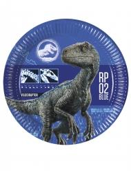 8 Assiettes en carton Jurassic World 2™ 23 cm