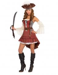 Déguisement pirate sexy asymétrique femme