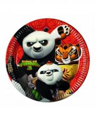 8 Assiettes en carton Kung Fu Panda 3™ 23 cm