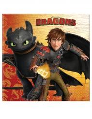 20 Serviettes en papier Dragons™ 33 x 33 cm