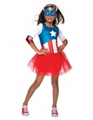 Déguisement Captain America™ avec tutu fille