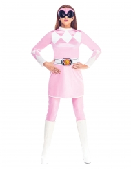 Déguisement combinaison rose Power Rangers Mighty Morphin™ femme