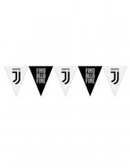Guirlande à fanions en plastique Juventus™ noire et blanche