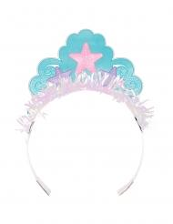 6 Couronnes en carton de Princesse Sirène iridescente