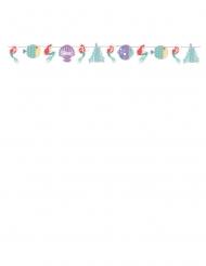 Guirlande en carton avec effet métallique premium Ariel™ 108 x 18 cm