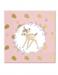 20 Serviettes en papier 33 x 33 cm premium Bambi™