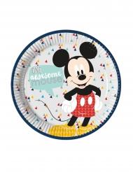 8 Assiettes en carton premium Mickey™ 23 cm
