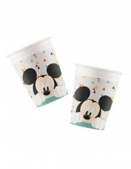 8 Gobelets en carton premium Mickey™ 260 ml