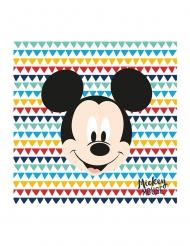 20 Serviettes en papier premium Mickey™ 33 x 33 cm