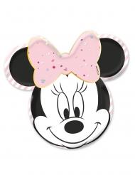 4 Assiettes en carton premium visage Minnie™ 31 x 32 cm