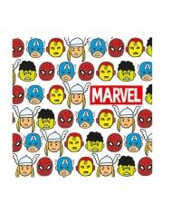 20 Serviettes en papier premium Avengers™ pop comic 33 x 33 cm