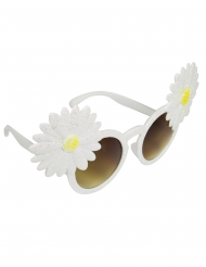 Lunettes marguerites blanches adulte