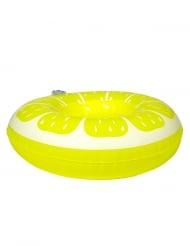 Mini bouée pour boissons Citron jaune