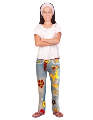 Jean legging flower power enfant