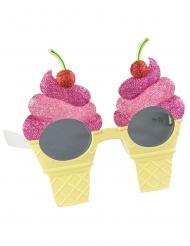 Lunettes cônes de glaces roses adulte