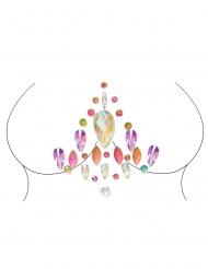 Bijoux pour corps adhésifs multicolore adulte
