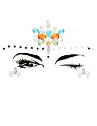 Bijoux pour visage adhésifs multicolore adulte