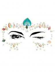 Bijoux pour visage adhésifs zen adulte