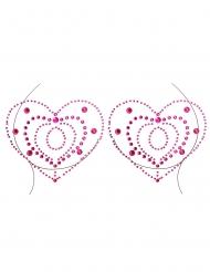 Bijoux pour décolleté et corps motifs coeurs adulte
