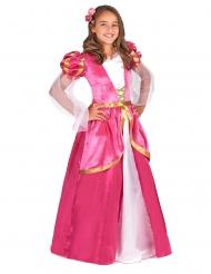 Déguisement princesse médiévale rose fille