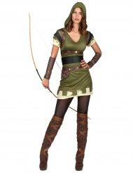 Déguisement archer vert des bois femme