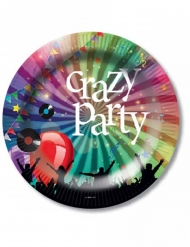 6 Assiettes en carton Crazy Party 23 cm