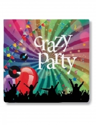 20 Serviettes en papier Crazy Party 33 x 33 cm