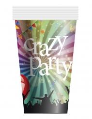 6 Gobelets en carton Crazy Party 25 cl