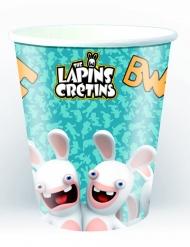 6 Gobelets en carton Lapins Crétins™ 25 cl