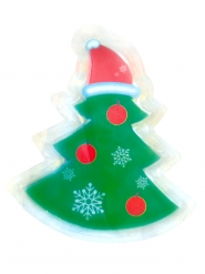 Sticker led sapin 10 x 7 cm