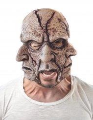 Masque latex homme multivisages adulte
