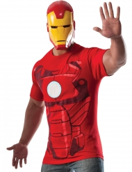 T-shirt avec masque Iron man™ adulte