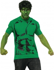 T-shirt avec perruque Hulk™ adulte