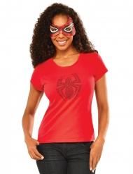 T-shirt à strass et masque Spidergirl™ femme