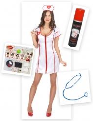 Pack déguisement infirmière zombie femme