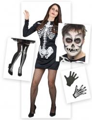 Pack déguisement squelette femme