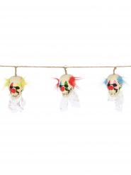 Guirlande tête de mort clown 153 cm