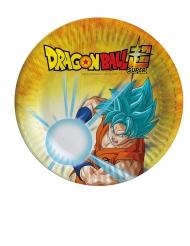 8 Petites assiettes en carton Dragon Ball Super™ 18 cm