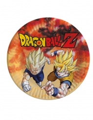 8 Assiettes en carton Dragon Ball Z™ 23 cm