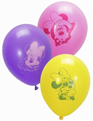 10 Ballons en latex Minnie™ 28 cm
