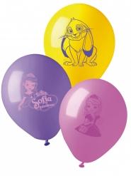10 Ballons en latex Princesse Sofia™ 28 cm