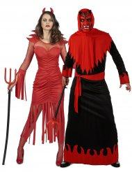 Déguisement de couple diable démoniaque adulte