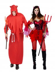Déguisement de couple diable adultes Halloween