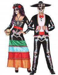 Déguisement couple squelette Dia de los muertos