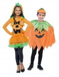 Déguisement de couple citrouille Halloween enfant