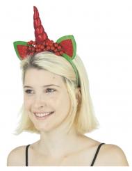 Serre-tête licorne de Noël femme